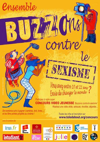 Affiche Buzzons contre le sexisme